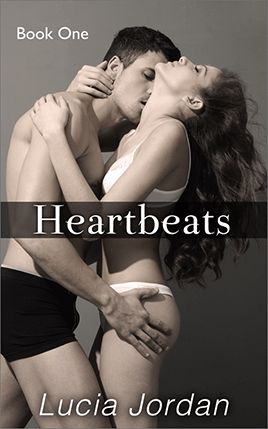 Heartbeats by author Lucia Jordan. Book One cover.
